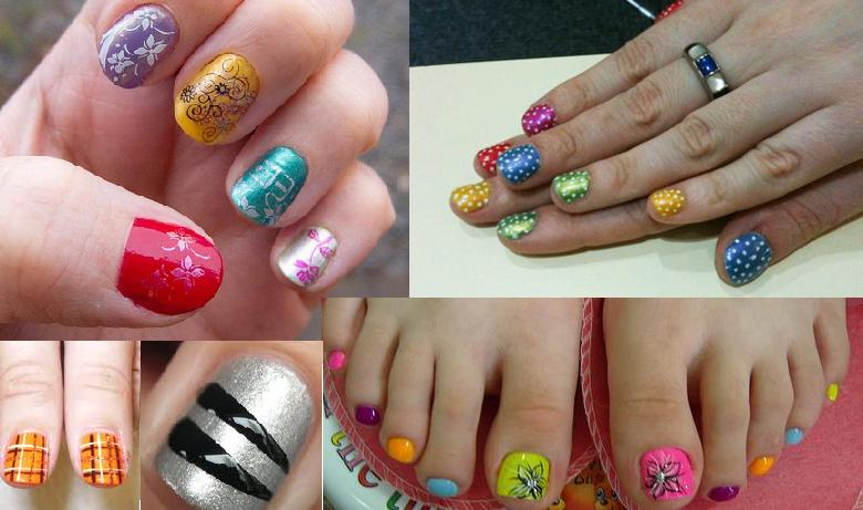 Nail Art for Teens http://ladies-trends.com/2011/05/01/funky-nail-art-for-short-nails-summer-2011/