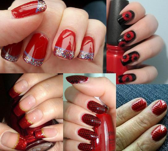 Red Nail Polish Designs Nail Designs Hair Styles Tattoos And Fashion Heartbeats