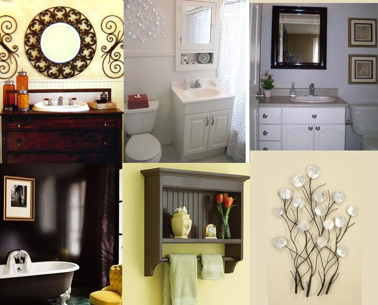 How to decorate a bathroom wall