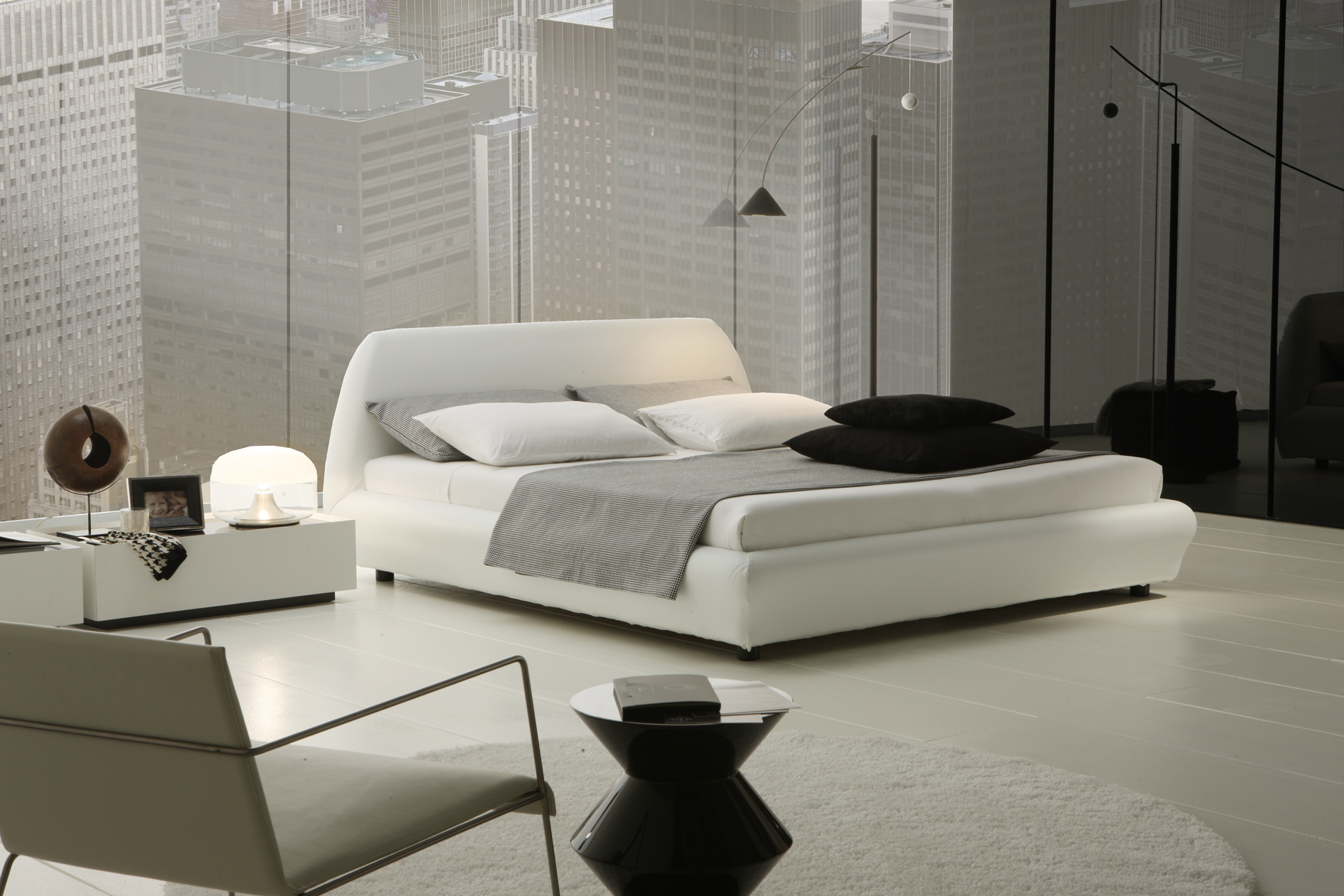 White bedroom ideas for Modern minimalist bedroom furniture