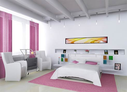 White bedroom ideas princess bedroom girl bedroom pink Bed Room Ideas