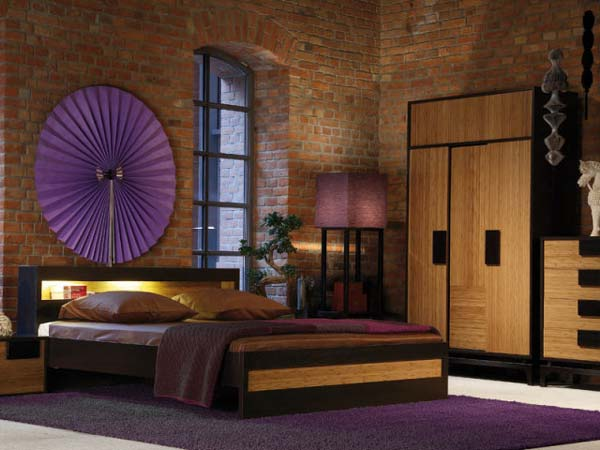Purple bedroom decor ideas for Purple and brown bedroom designs