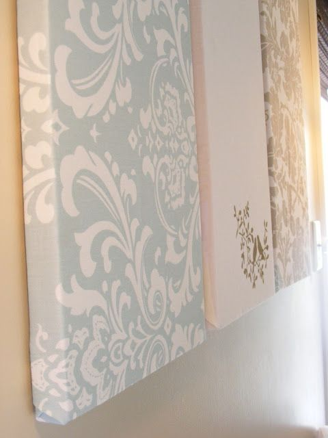 Wall Decorations Using Fabric : Fabric wall art