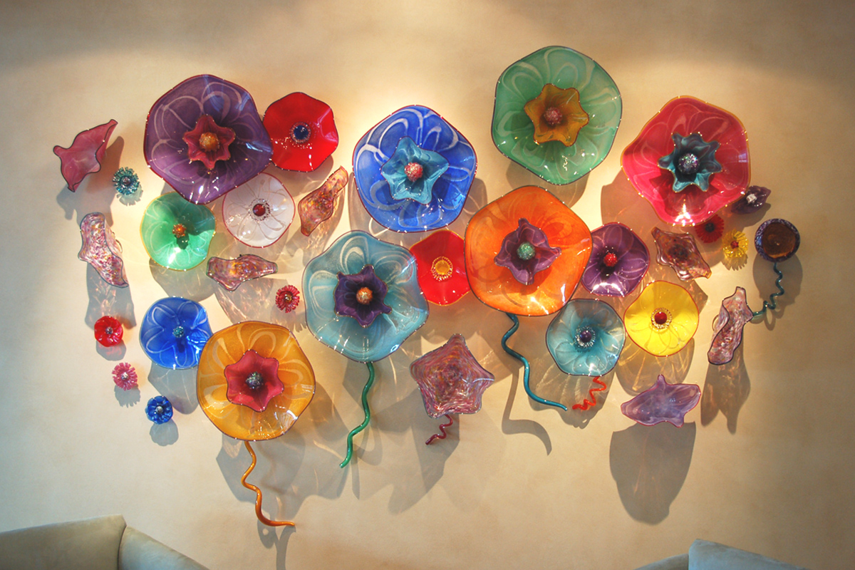 Blown Glass Wall Decor : Tea rose home guest post wall decorating