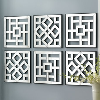 Mirror wall art ideas for Modern mirrored wall art
