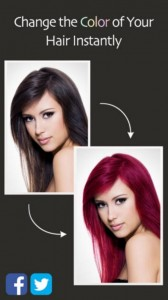 hair color booth app
