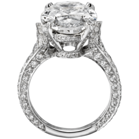 Cartier Platinum diamond ring