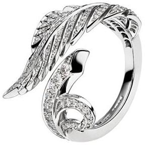 David Marshall London Feather Diamond Ring In Platinum