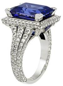 David Marshall London The Parisian Ring -Diamond- Blue