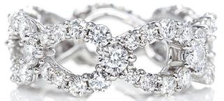 Harry Winston Platinum Loop Ring Band