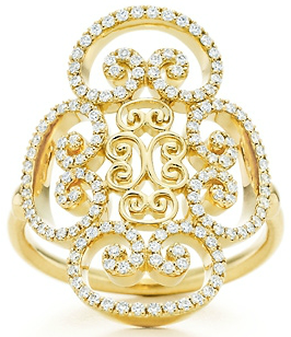 Tiffany Paloma's Venezia Goldoni Quadruplo Ring In Gold