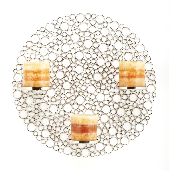 Circles in a Circle Candle Wall Art