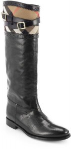 burberry carington leather riding boots