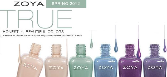 Zoya True Nail Polish Spring 2012 Collection