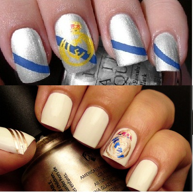 Real Madrid Nail art