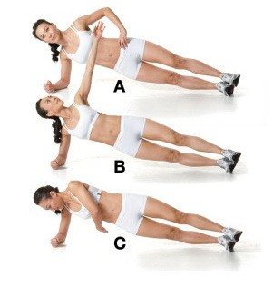 Side Plank Arm Raise